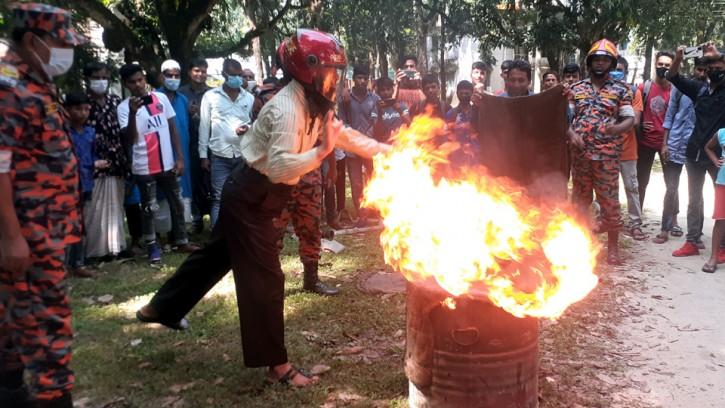 তেঁতুলিয়ায় আন্তর্জাতিক দুর্যোগ প্রশমন দিবস পালিত